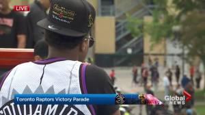 Raptors victory parade: Kyle Lowry rocks Damon Stoudamire jersey