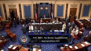 U.S. Senate passes own $4.6 billion border aid measure as Pelosi seeks talks