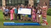 Play video: Edgewater students pay it forward with donation to West Island Palliative Care Residence