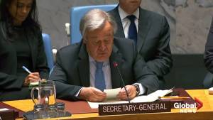 U.N. chief condemns tanker attacks, says facts must be established