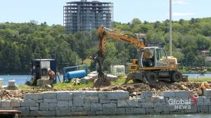 HRM repairing Northwest arm sea wall