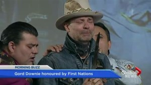 Gord Downie is honoured by First Nations in emotional ceremony