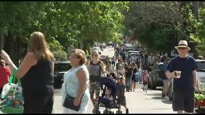 Crowds come out for Gilmour Street Garage Sale in Peterborough
