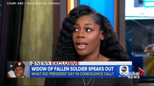 Gold Star widow Myeshia Johnson describes call with President Trump