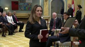 Chrystia Freeland becomes Canada's new Minister of Foreign Affairs
