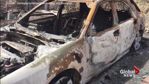 Burned out cars, homes, and appliances in aftermath of La Tuna fire in California