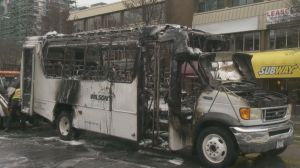 Bus fire shuts down Victoria street