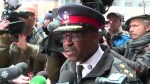 Chief Mark Saunders attends rally by families of Toronto police officers