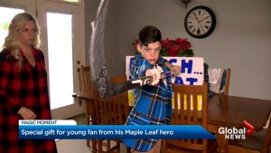 12-year-old cancer survivor receives gift of a lifetime from Leafs' Marner