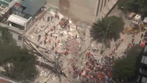 Aerial video shows collapsed buildings in Mexico City after deadly earthquake