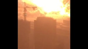 Amateur video captures scary moments before, during, and after Tianjin blast