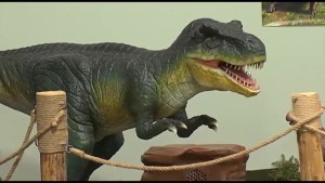 Dinosaurs invade city mall as part of Indian River Reptile Zoo exhibit