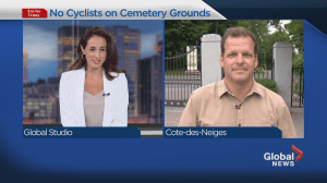No more bikes at the Mount Royal Cemetery (02:08)