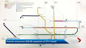Premier Ford announces extensive plan for transit in GTA
