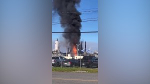 Fire rages at Irving Oil in New Brunswick