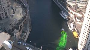 Chicago River turns green for St. Patrick's Day