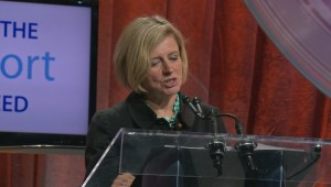 Alberta Premier Rachel Notely speaks about oil prices and recovery