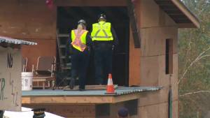 Burnaby crews move in to dismantle Camp Cloud pipeline protest site