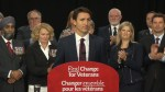 Trudeau slams Harper for unspent funding on veterans during 2015 campaign