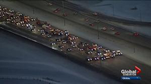 Huge rush-hour delays in Edmonton follow truck convoy protest