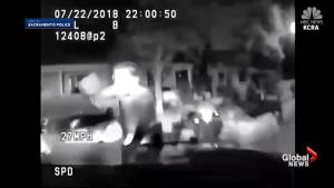 Police in Sacramento questioned over video showing officer striking fleeing teen on bicycle with his car