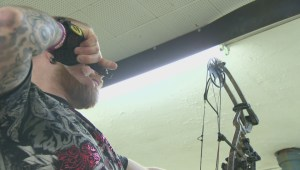 Manitobans play archery without their sight