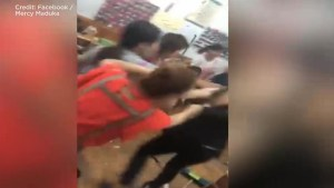 Customer records violent altercation at Brooklyn nail salon
