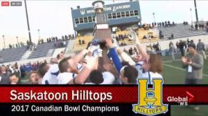 Saskatoon Hilltops claim 4th straight Canadian Bowl