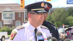 Mississauga fire chief says some residents can't return home right away due to damages (01:44)