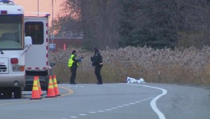 Driver hits body on Laval road
