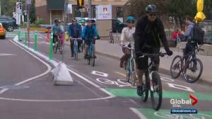 Edmontonians to adapt to new way of sharing roads with cyclists (02:02)