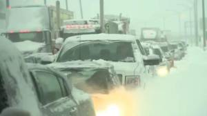 Quebec to compensate drivers caught in 2017 storm