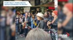 Foo Fighters' Dave Grohl busks at Seattle market