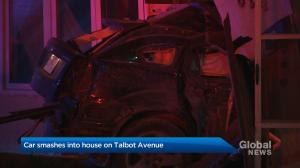 Car smashes into house on Talbot Avenue