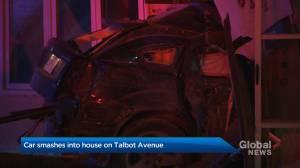 Car smashes into house on Talbot Avenue