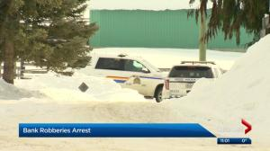 Man arrested in Edmonton bank robberies investigation