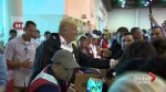 President Trump, First Lady help serve food at Hurricane Harvey flood evacuation centre