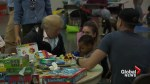 President Trump meets with children displaced by Hurricane Harvey at evacuation shelter