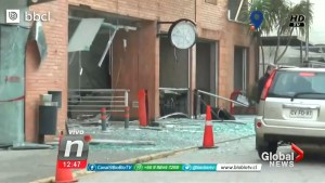 Dramatic video captures moment of explosion at Chile hospital