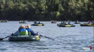 Float along the North Saskatchewan River at the EPCOR RiverFest
