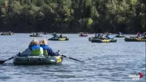 Float along the North Saskatchewan River at the EPCOR RiverFest