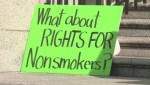 Anti-pot protest held in downtown Vancouver on first day of legalization