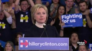 Hillary Clinton congratulates Sanders on New Hampshire win, says she'll keep fighting for votes