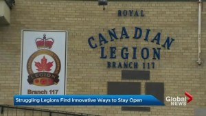 Royal Canadian Legion branches trying to find new ways to stay open
