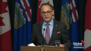 Alberta finance minister talks oil prices during fiscal update