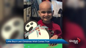 Canadians among thousands sending cards for 9-year-old Jacob's 'last Christmas'