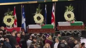 Funeral held for three victims of Quebec mosque shooting