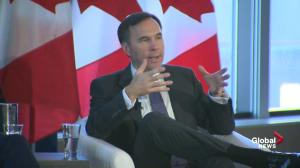 I don't know how to 'better support' Alberta oil than $4.5M cheque: Morneau