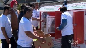 Calgarians open mini outdoor food bank: 'Whatever you like, you can take'