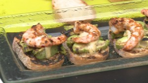 BBQ Tips: Berezan Shrimp with Grilled Avocado on Toast
